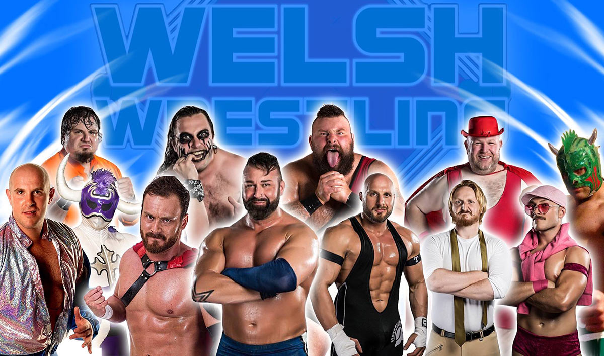 Welsh Wrestling tycroes party on the pitch 2018