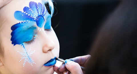 face painting glitter tattoos